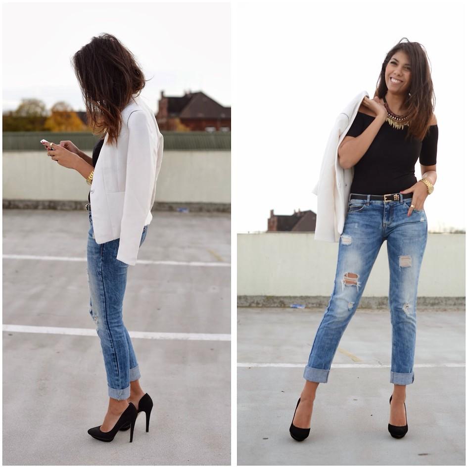 Jean Pencil Skirt Outfit Ideas Saddha